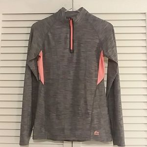 RBX Long Sleeve Athletic Top Blue and Peach